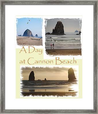 A Day On Cannon Beach Framed Print