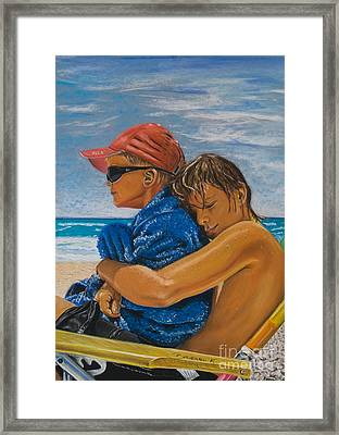 A Day On The Beach Framed Print by Katharina Filus