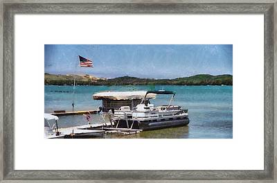A Day On The Lake Framed Print by Dan Sproul