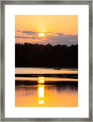 A Day On The Lake Framed Print by Parker Cunningham