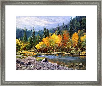 A Day On The River Framed Print by Jennifer Beaudet