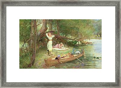 A Day On The River Framed Print by John Parker