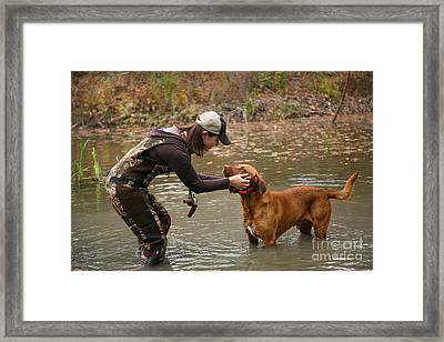 A Day Out Duck Hunting Framed Print by Suzi Nelson