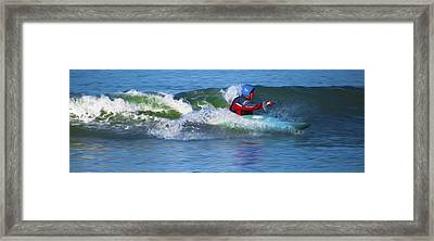 A Day Out With The Kayak. Framed Print