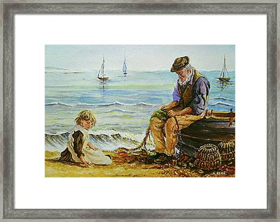 A Day With Grandad Framed Print