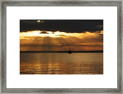 A Days End Framed Print by Andrea Galiffi