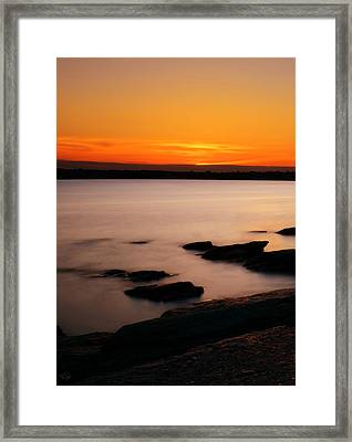 A Day's End Framed Print by Lourry Legarde