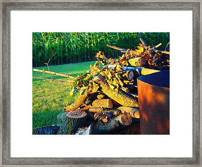 A Days Work Framed Print