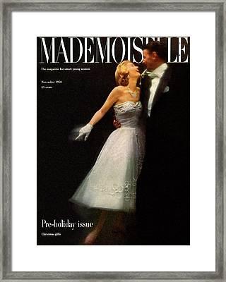A Debutante In A Ballgown By Carolyn Fashion Framed Print by Stephen Colhoun