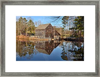 Framed Print featuring the photograph A December Reflection by Bob Sample
