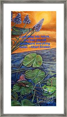 Framed Print featuring the painting A Deep Look Into Nature And Our Water by Kimberlee Baxter