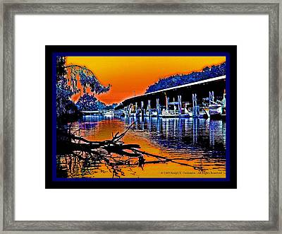 A Delta Sunset  Framed Print
