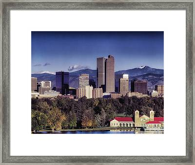 A Denver Autumn Framed Print