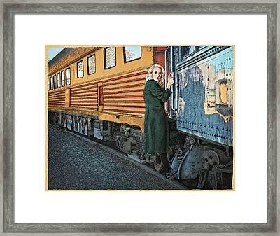 A Departure Framed Print by Meg Shearer