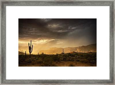 A Desert Monsoon Sunset  Framed Print