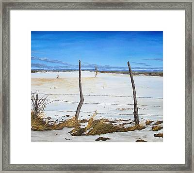 A Desert Winter Framed Print by Jessica Tookey