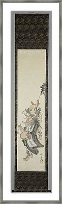 A Devil As A Mendicant, Kawanabe Kyosai, 1850 - 1889 Framed Print by Litz Collection