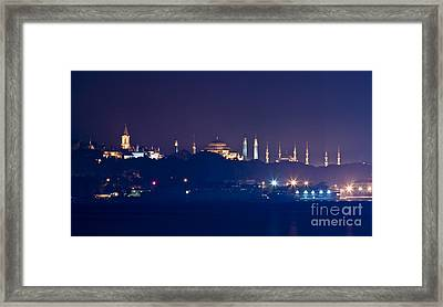 A Different Silhouette Of Istanbul Framed Print by Leyla Ismet