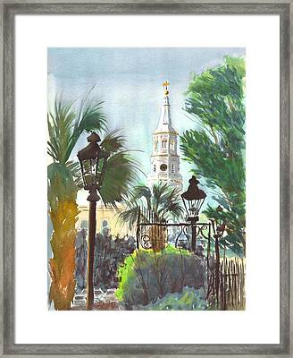 A Different View Framed Print by Vincent Bobo