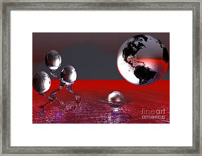 Framed Print featuring the digital art A Different World by Jacqueline Lloyd