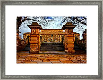 A Digitally Converted Painting Of St Georges Hall In Liverpool Uk Framed Print