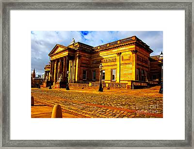 A Digitally Converted Painting Of The Walker Art Gallery In Liverpool Uk Framed Print