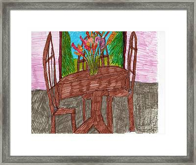 The Leaning Table Framed Print