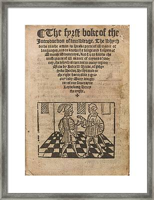 A Discussion Framed Print by British Library