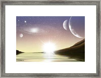 A Distant World Sunset Framed Print