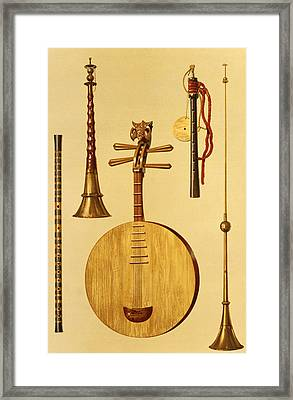 A Dizi, A Sona, A Yueqin, Chinese Framed Print by Alfred James Hipkins