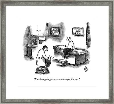 A Doctor Sitting On A Stool And Writing On A Pad Framed Print