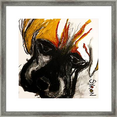A Dog Called Flame Framed Print