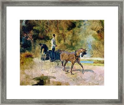 A Dog-cart, 1880 Oil On Canvas Framed Print