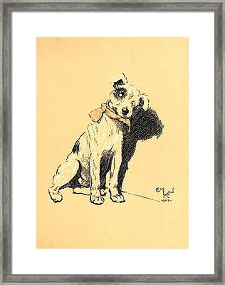 A Dog Day 1902-b Framed Print by D and I  Printing