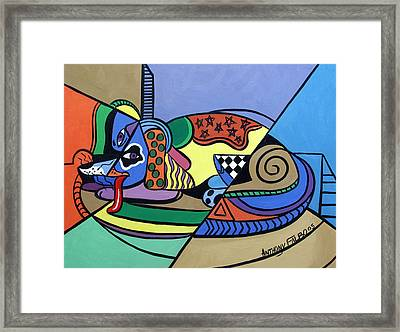 A Dog Named Picasso Framed Print by Anthony Falbo