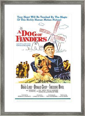 A Dog Of Flanders, Us Poster, David Framed Print by Everett