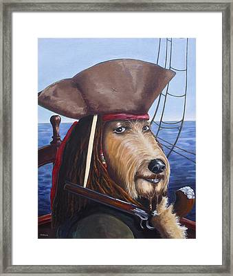 A Doodle On The High Seas Framed Print by Diane Daigle