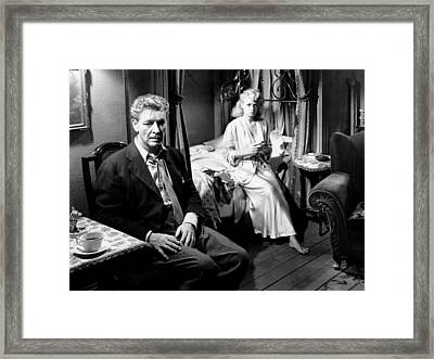A Double Life, From Left, Ronald Framed Print