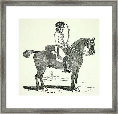 A Dragoon Framed Print by British Library