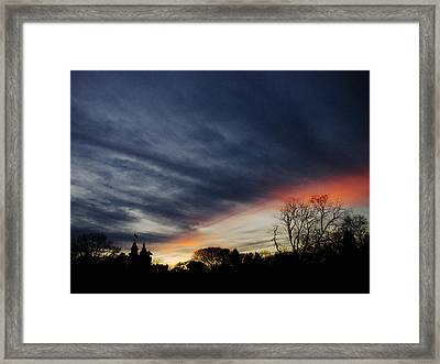 A Dramatic End Of The Day Framed Print by Cornelis Verwaal