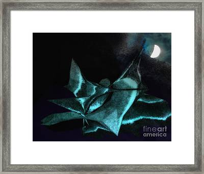 A Dream - Flying To The Moon Framed Print by Gerlinde Keating - Galleria GK Keating Associates Inc