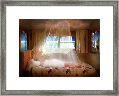 A Dream Of Love So Still Framed Print by David M ( Maclean )