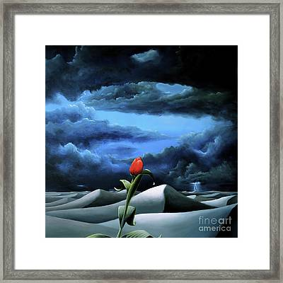 A Dream Of Rain Among A Sea Of Silence Framed Print