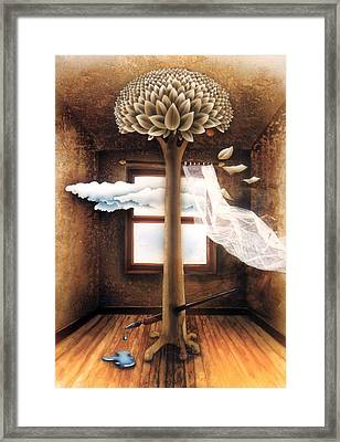 A Dream Of Words Framed Print by Jose Luis Alcover