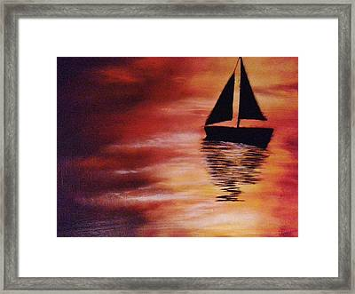 A Drift Framed Print