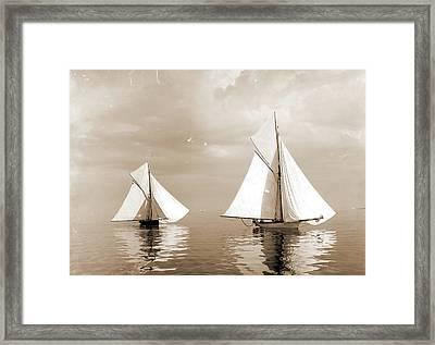 A Drifting Match, Rosalind And Beetle, Peabody, Henry G Framed Print