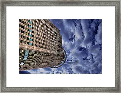 Framed Print featuring the photograph A Drifting Skyscraper by Ron Shoshani