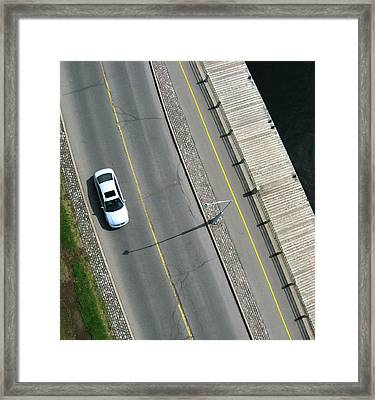 A Drive By The Lake.  Framed Print by Rob Huntley