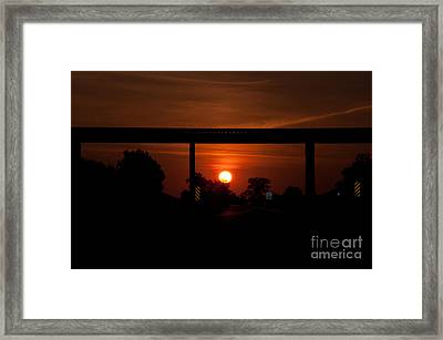 A Driver's View Framed Print