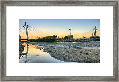 A Dry Heat In Wichita Kansas Framed Print by JC Findley